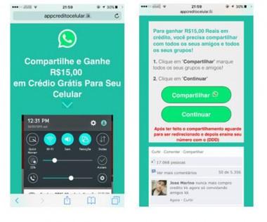 Falso bônus é usado como isca para enganar usuários do WhatsApp