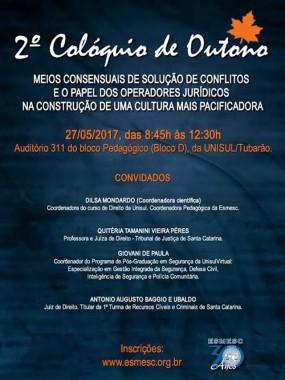 ESMESC promove debate sobre meios consensuais de solução de conflitos