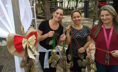 Praça de Içara recebe novo espaço para compartilhar o Natal