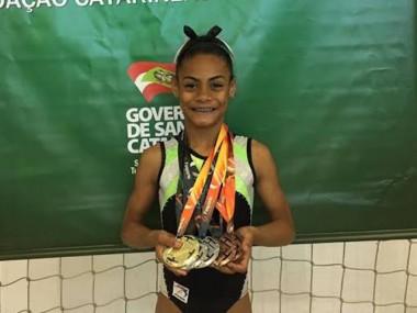 Atleta de Criciúma é eleita a melhor ginasta catarinense infantil