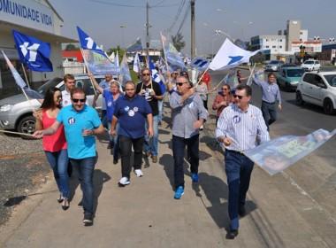 Bandeiraço da Coligação Por Criciúma mobiliza Pinheirinho