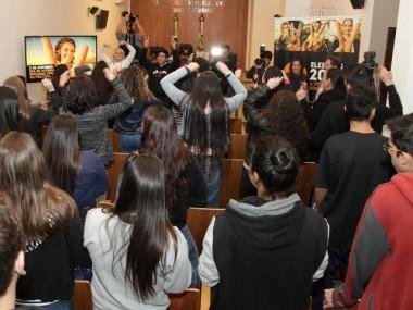Estudantes visitam o TRE-SC e participam de atividades lúdicas