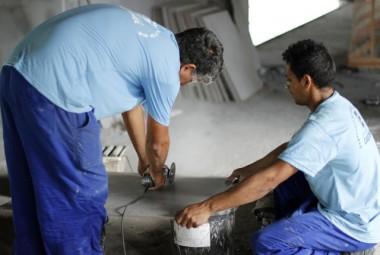 Paço Municipal ganha novos revestimentos cerâmicos