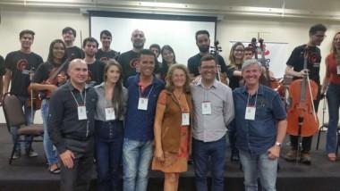 Diretor de Cultura de Cocal do Sul representa município