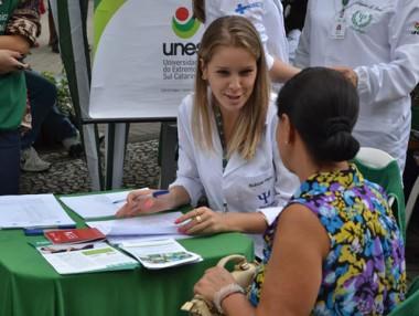 Momento de conscientização em Criciúma no Dia da Saúde