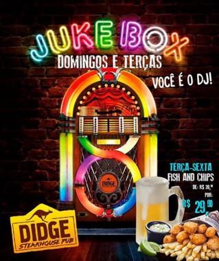 Jukebox invade o Didge BC nos domingos e nas terças