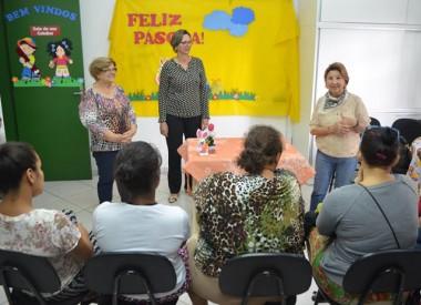 Palestra sobre Páscoa para as mulheres do PAIF de Siderópolis