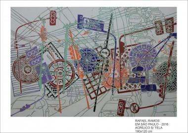 Artista de São Paulo traz o cotidiano da cidade em exposição na Unesc