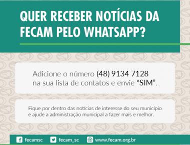 FECAM utiliza WhatsApp para ampliar a comunicação