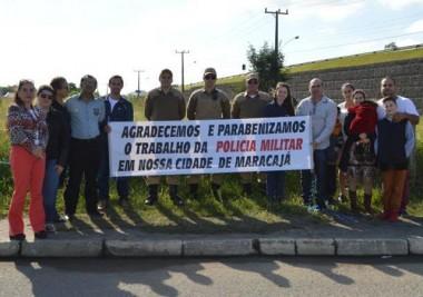 Polícia Militar de Maracajá é homenageada