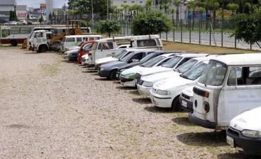 Veículos serão leiloados no Parque das Nações