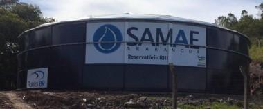 Reservatório em aço vitrificado já abastece a população