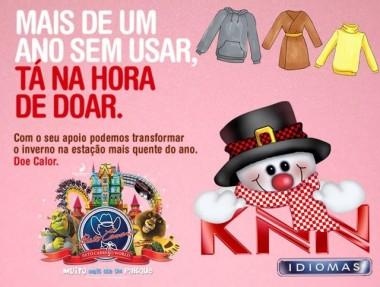 KNN Içara recebe doações para campanha do agasalho