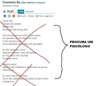 """Página no Facebook """"arruma"""" letras de músicas machistas"""