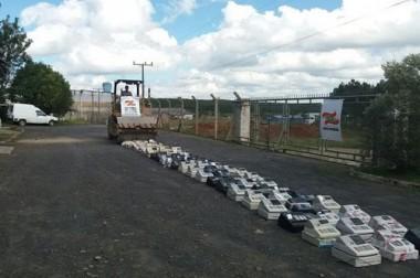 Fazenda de SC destrói 97 máquinas ilegais em Lages