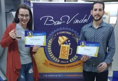 Engenharia Química da Satc fica em 3º lugar em concurso de cerveja