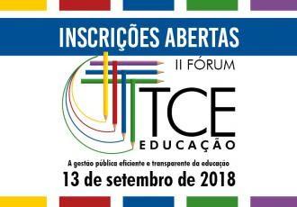 TCE/SC abre inscrições para o II Fórum sobre Educação