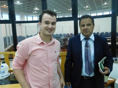Acadêmico de Direito visita a Câmara de Araranguá
