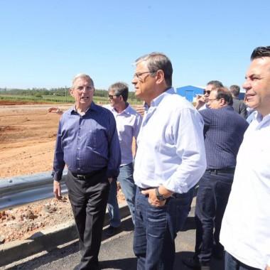 Vice-governador Eduardo Moreira vistoria Via Rápida em Criciúma