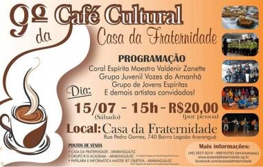 Café Cultural da Casa da Fraternidade ocorre neste sábado