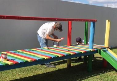 Parceria entre APP e escola realiza melhorias na creche em NV