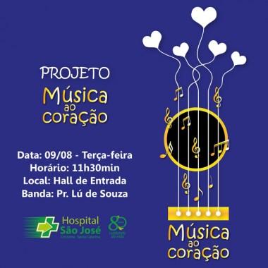 Projeto Música ao coração do HSJosé completa 11 meses