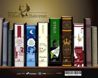 Selo dos Correios sobre obras de Shakespeare é eleito um dos mais belos de 2017