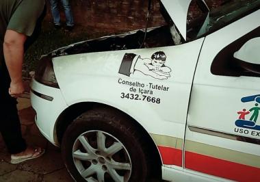 Ducato do Governo de Içara perde roda e pacientes escapam de tragédia