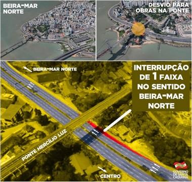 Alteração no trânsito da Avenida Beira-Mar Norte em Floripa