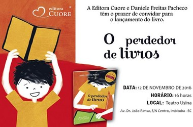 """Lançamento do """"O perdedor de livros"""" com a escritora de Criciúma"""