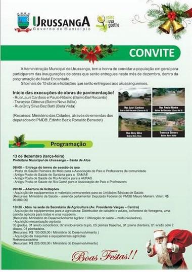 Urussanga dá início a programação de inaugurações