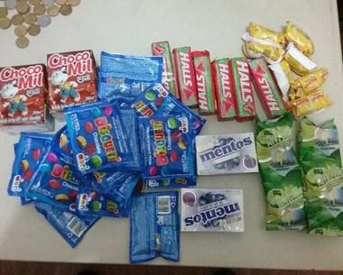 PM prende ladrões e recupera alimentos furtados