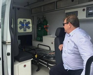 Siderópolis recebe ambulância do Governo do Estado