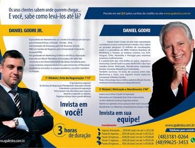 Palestra de Daniel Godri Junior no dia 16 de fevereiro
