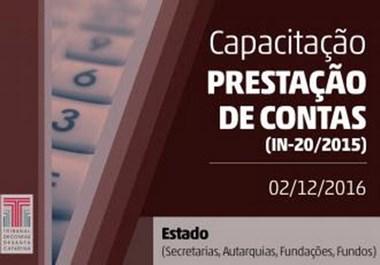 Capacitação sobre novos critérios para prestação de contas