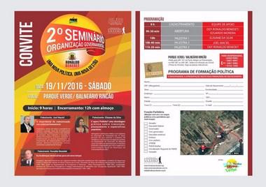 Ronaldo Benedet organiza um seminário para eleitos do PMDB