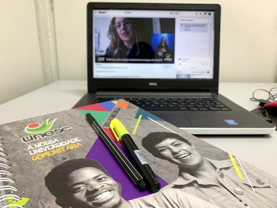 Aulas mediadas por tecnologia na Unesc são novas oportunidades de aprender