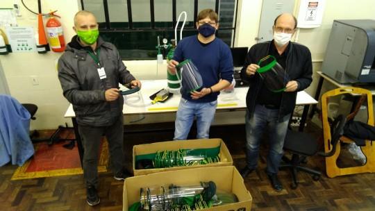 Satc faz entrega de protetores faciais à Carbonífera Catarinense